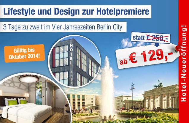 Gutschein Hotel Vier Jahreszeiten Berlin