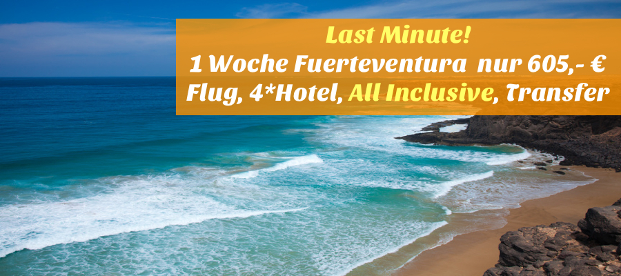 Last minute 1 woche fuerteventura mit flug for Last minute designhotel