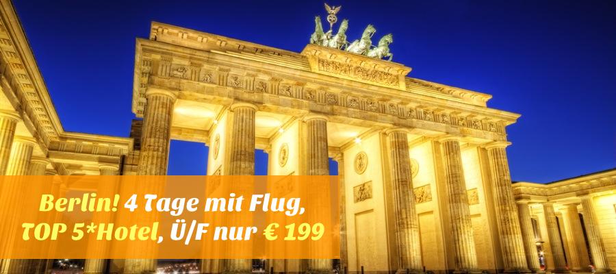 noch buchbar 4 tage berlin mit flug sehr gutes und au ergew hnliches 5 hotel f. Black Bedroom Furniture Sets. Home Design Ideas