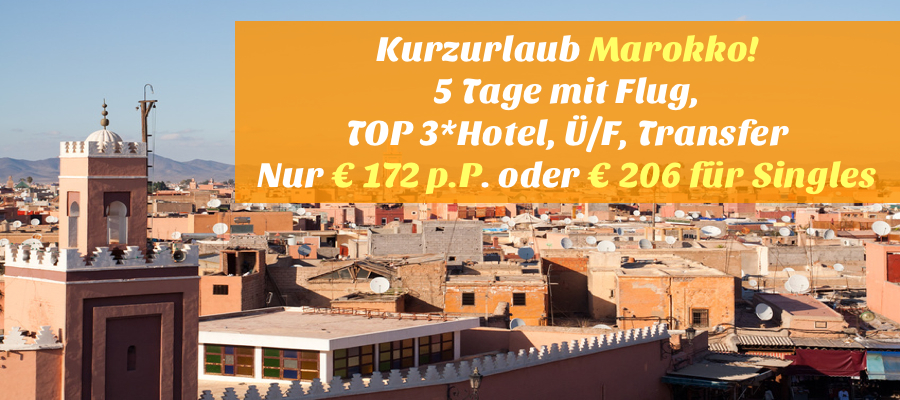 Flug Mit Hotel Nach Marrakesch