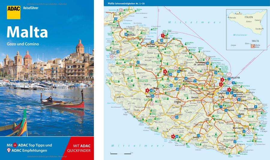 Amazon karte Malta, adac Reiseführer Malta