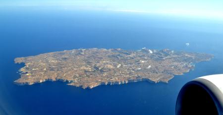 Gozo aus dem Flugzeug