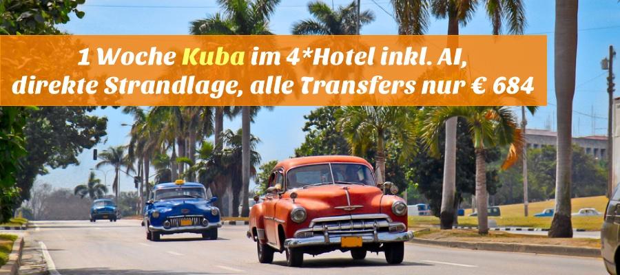 Reisehugo De Kuba 1 Woche Mit Flug 4 Hotel All Inclusive Direkte