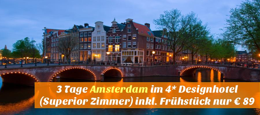Amsterdam 3 tage im top 4 designhotel 92 for 4 design hotel saccharum