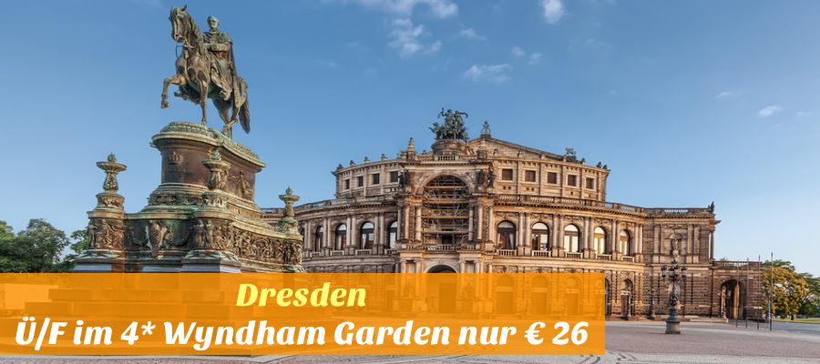 Semperoper (Saxon State Opera) and monument to King John of Saxony, Dresden, Germany