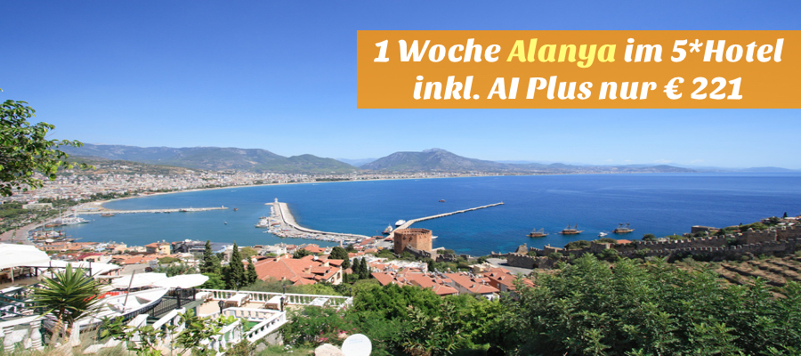 Alanya city and famous Red Tower