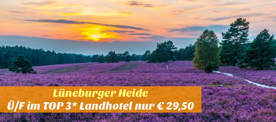 Lüneburger Heide, Sonneuntergang