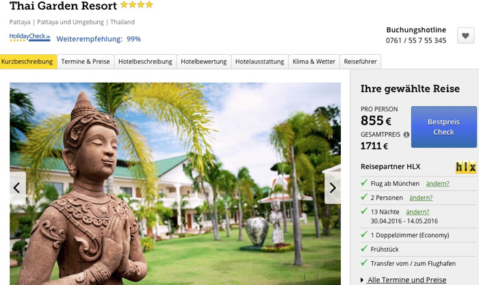 pattaya reise billig, pattaya luxusreise angebot, pattaya luxushotel angebot, thailand luxusreise billig