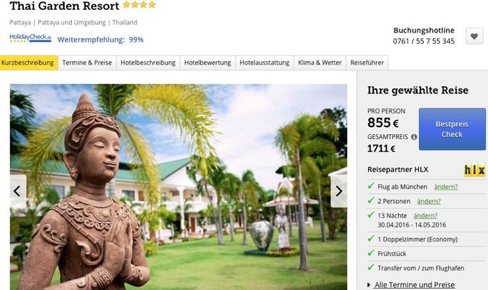 pattaya reise billig, pattaya luxusreise angebot, pattaya luxushotel angebot, thailand luxusreise billig