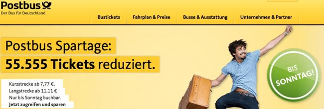 postbus aktion, postbus gutschein, postbus rabatt, postbus billig ticket