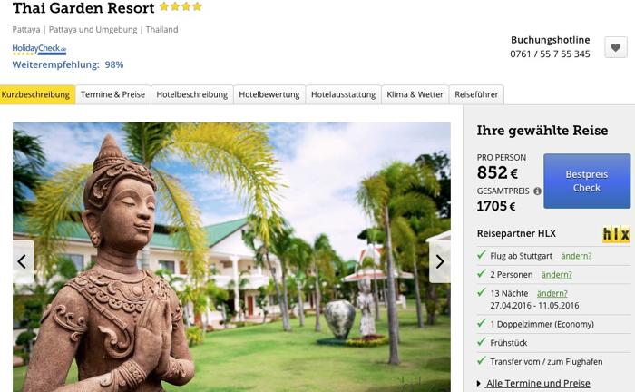 thailand reise billig, thailand luxusreise angebot, pattaya reise angebot