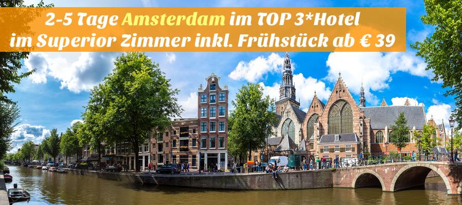 Oude Kerk (Old Church) and Voorburgwal canal in Amsterdam