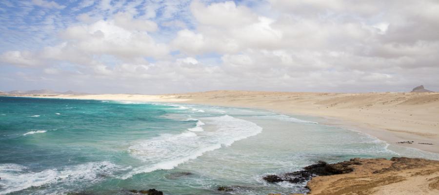 Beautiful panoramic view of Boa Vista coast