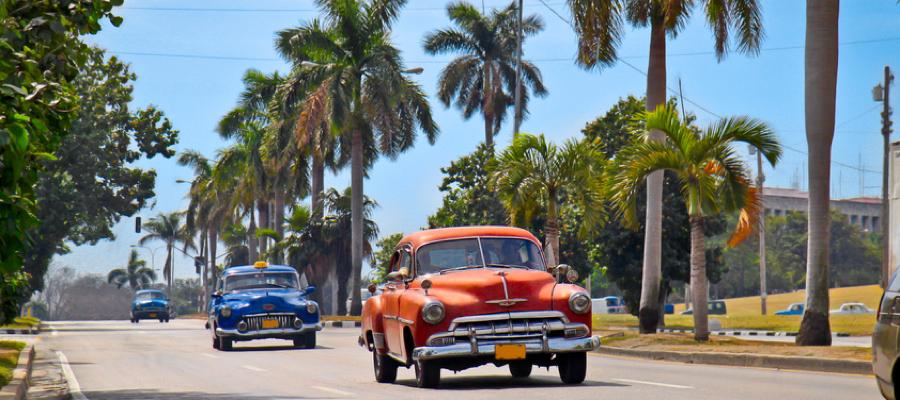 American classic cars in Havana, Cuba.