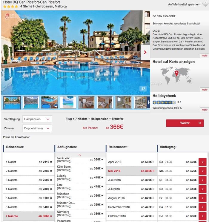 mallorca reise billig, mallorca Halbpension reise Angebot, Mallorca 5 Sterne hotel Angebot