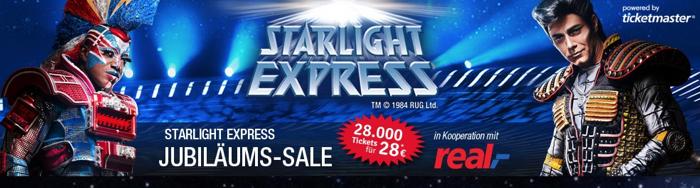 starlight express gutschein, starlight express rabatt, starlight express aktion, starligt expressjubiläums sale