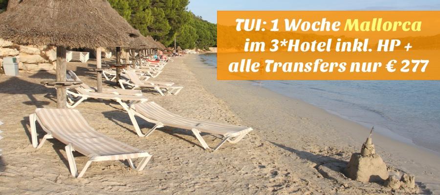 Reisehugo De Tui 1 Woche Mallorca Mit Flug 3 Hotel Halbpension