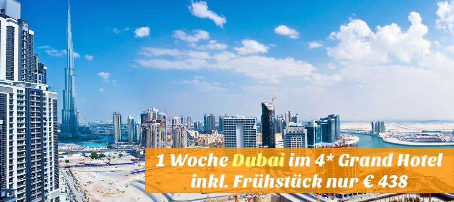 Reisehugo De Dubai 1 Woche Mit Flug 4 Grand Hotel 100
