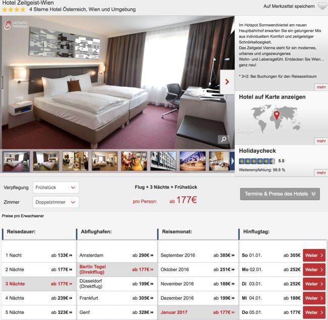 luxus in wien 4 tage inkl fl gen bernachtung und fr hst ck im 4 hotel zeitgeist. Black Bedroom Furniture Sets. Home Design Ideas