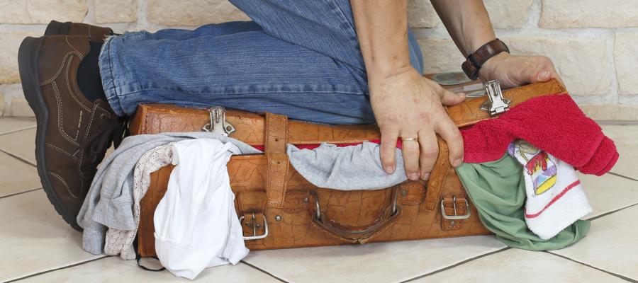 koffer schon gepackt