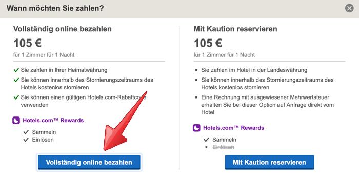 hotels.com aktion