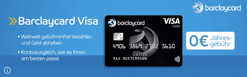 Barclaycard Visa kostenlos, guthaben Visa karte, kostenlose Visa karte