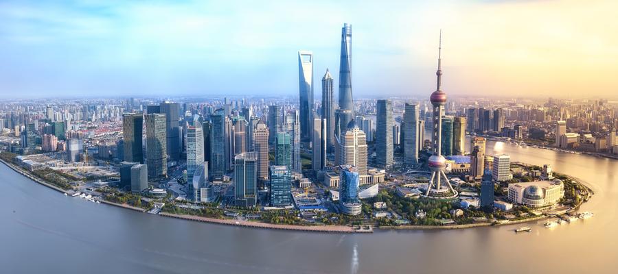 TUI Cruises HONGKONG MIT JAPAN I, Shanghai skyline, Shanghai panorama