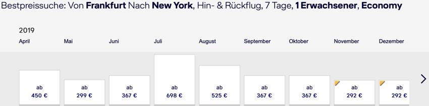 Lufthansa new York, Lufthansa nonstop usa