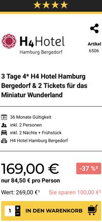 Miniatur wunderland ticket, Miniatur Wunderland Hamburg, h4 Hotel Hamburg