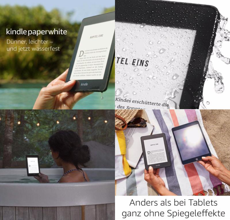 Amazon neue Kindle paperwhite, Kindle wasserfest