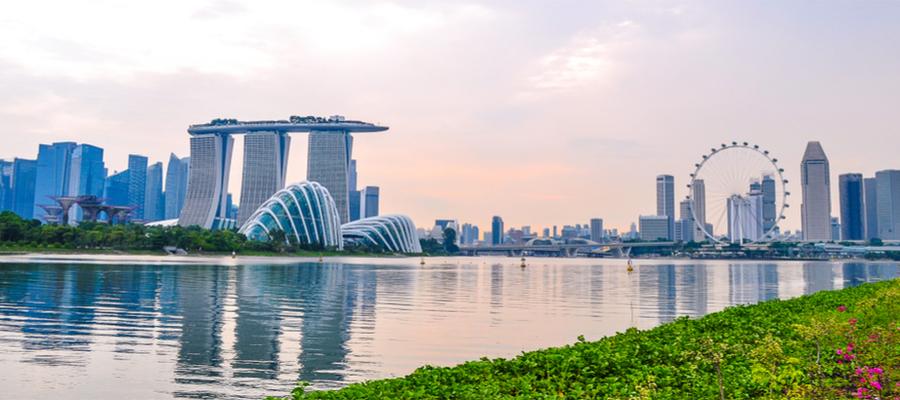 TUI Cruises ASIEN MIT SINGAPUR, Singapur skyline, Singapur panorama