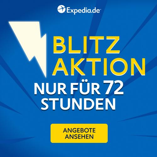 expedia Blitzaktion, Hotel Gutschein expedia, Hotel Rabatt expedia, expedia sale logo
