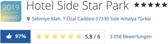 hotel side star park Türkei, holidaycheck bewertungen hotels reisen