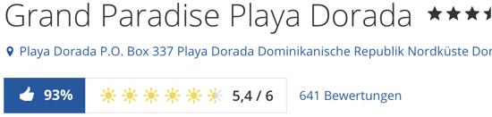 Grand Paradise Playa Dorada. puerto plata, Holidaycheck Bewertungen Hotels reisen