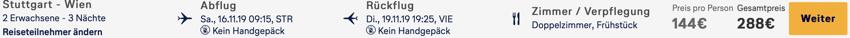 Wien pauschal Angebot