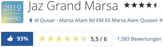 Jaz Grand Marsa hotel Ägypten Marsa Alam, holidaycheck Bewertungen reisen hotels