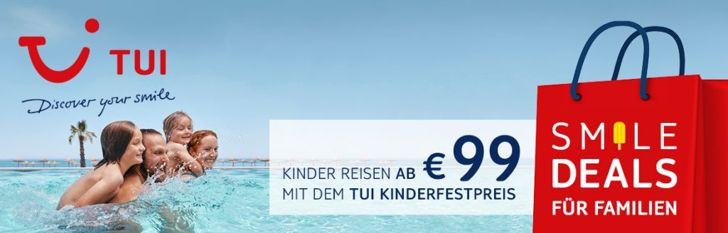 tui smile deals, tui Kinderfestpreis