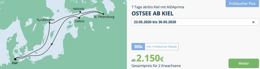 aida frühbucher plus, aida Aktionswochen, aida aktion, aida Ostsee kreuzfahrt schnäppchen