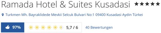 5-Sterne Ramada Hotel & Suites Kusadasi, holidaycheck Bewertungen hotels reisen