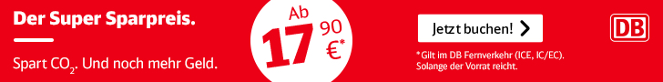Super Sparpreis Tickets bahn, Extra-Bahntickets, aktion bahn, Umwelt schonen bahn