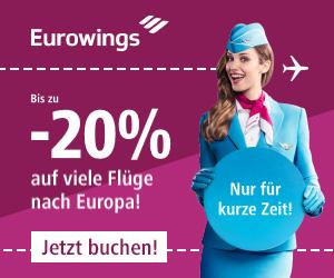 Eurowings Flüge Fruehbucherrabatt