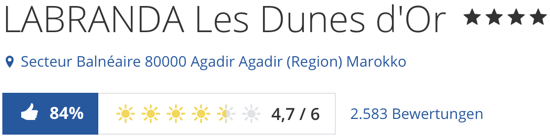 Hotel LABRANDA Les Dunes d'Or agadir, holidaycheck Bewertungen reisen hotels