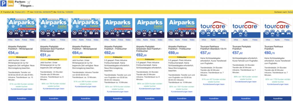 parken und fliegen, parken am Flughafen, park & ride, parkenundfliegen.de, Parkplätze am Flughafen