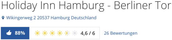 Holiday Inn Hamburg - Berliner Tor, holidaycheck reisen hotels bewertungen kreuzfahrten schiffe