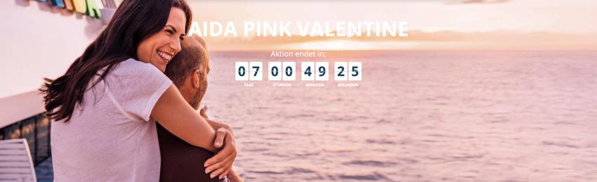 AIDA PINK VALENTINE, aida Valentinstag Angebote, aida schnäppchen