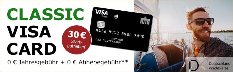 Deutschland-Kreditkarte Startguthaben, Visa karte gratis, Visa karte Prämie, Visa karte kostenlos