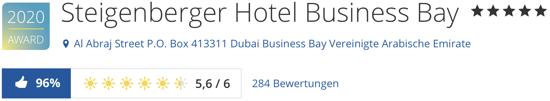 Steigenberger Hotel Business Bay Dubai, holidaycheck bewertungen hotel reisen Kreuzfahrten