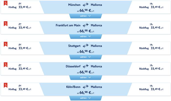 TUI fly Rabatt, tui fly aktion, tui fly billig, Billigflüge, Mallorca Billigflug