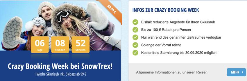 snowtrex aktion, Skiurlaub mit Skipass, winterurlaub