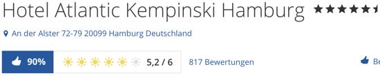 hotel Atlantic Kempinski Hamburg, holidaycheck Bewertungen hotels reisen